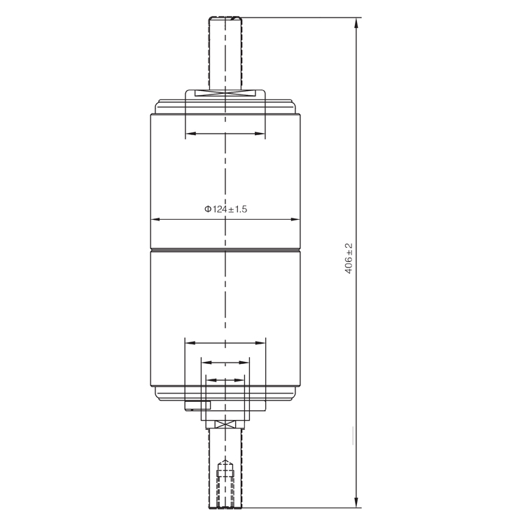Vacuum Interrupter TD-40.5KV 1600A 31.5E (JUC2489) from JUCRO Electric
