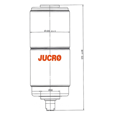 Vacuum Interrupter JUCA-40.5KV 1600A, 1250A 25KA (JUCA-61177A) from JUCRO Electric