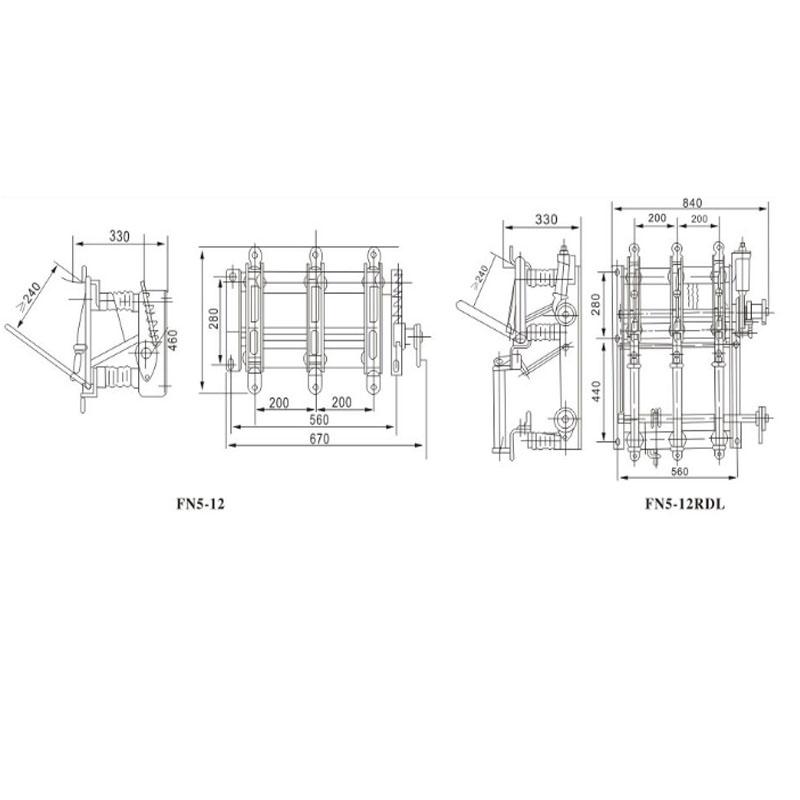 Indoor High Voltage load switch FN5-12