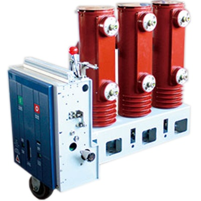 Side-mounted miniaturized indoor high-voltage vacuum circuit breaker