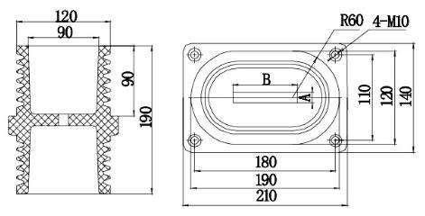 12KV Bushing BSH-10J/110*180 from JUCRO Electric